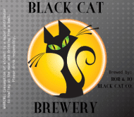 Expressions Beer Label - Black Cat