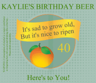 Birthday Beer Label - Ripen