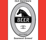 Celebration Beer Label - Old Swagback