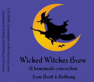 Holiday Beer Label - Halloween Witches