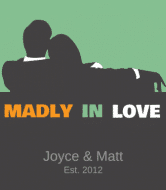 Anniversary Wine Label - Madly in Love