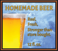 Expressions Beer Label - Homemade Beer