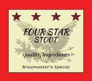 Celebration Beer Label - Four Star