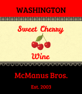 Expressions Wine Label - Sweet Cherry