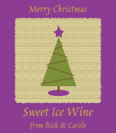 Holiday Wine Label - Paper Tree
