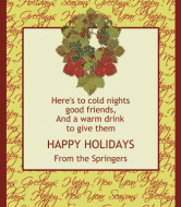 Holiday Wine Label - Grapevine Wreath