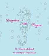 Wedding Wine Label - Seahorse