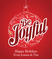 Holiday Wine Label - Be Joyful