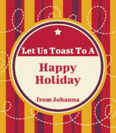 Holiday Wine Label - Holiday Toast