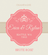 Celebration Champagne Label - Rose