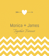 Wedding Wine Label - Wedding Chevron