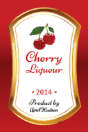 Food Label - Cherry Liqueur