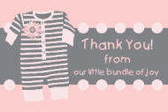 Baby Sticker - Pink Pajamas