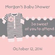 Baby Sticker - Pink Pajamas