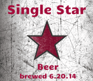 Celebration Beer Label - Single Star