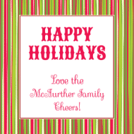 Holiday Sticker - Holiday Stripe