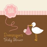 Baby Sticker - Stork Pink