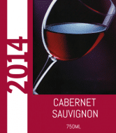 Expressions Wine Label - Red Glass
