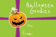 Holiday Gift Tag - Halloween Goodies