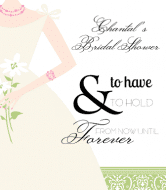 Wedding Wine Label - Bride with Flowers