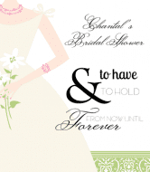 Wedding Champagne Label - Bride with Flowers