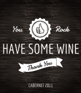 Celebration Wine Label - You Rock