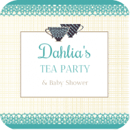 Baby Drink Coaster - Tea Time