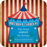 Birthday Drink Coaster - Birthday Carnival