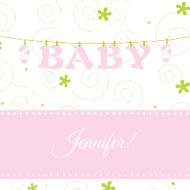 Baby Sticker - Baby Clothesline Pink