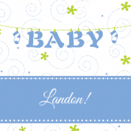 Baby Sticker - Baby Clothesline Blue