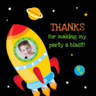 Birthday Sticker - Blast Off