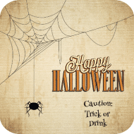 Holiday Drink Coaster - Itsy Bitsy Spider
