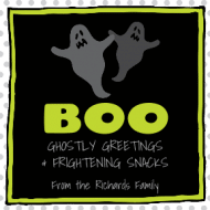 Holiday Sticker - Ghostly Greetings
