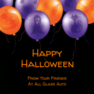 Holiday Sticker - Halloween Balloons