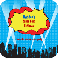 Birthday Drink Coaster - Calling All Super Heroes