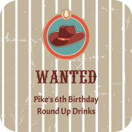 Birthday Drink Coaster - Wanted