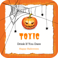 Holiday Drink Coaster - Halloween Party