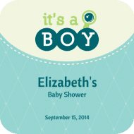 Baby Drink Coaster - Expecting a Boy