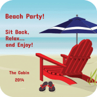 Celebration Drink Coaster - Beach Chair