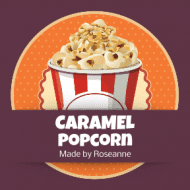Food Label - Carmel Covered Popcorn