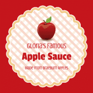 Food Label - Apple Sauce