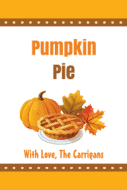 Food Label - Pumpkin Pie