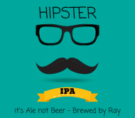 Expressions Beer Label - Hipster