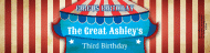 Birthday Custom Label Bottled Water - Circus Birthday