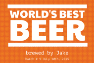 Expressions Growler Label - World's Best