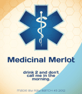 Expressions Wine Label - Medicinal