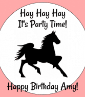 Birthday Wine Label - Dark Horse