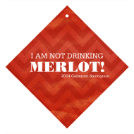 Expressions Wine Hang Tag - I Am Not Drinking