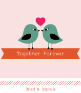 Wedding Wine Label - Together Forever