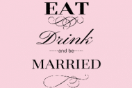 Wedding Mini Wine Label - Eat Drink and Be Married